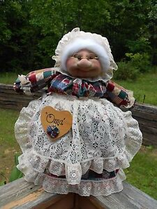 """Soft Sculptured 23"""" Free Standing Grandma Jeweltone Patch with Hearts NO BASKET"""