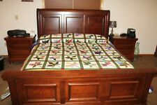 AUTHENTIC AMISH QUILT HAND QUILTED MAPLE LEAF STYLE    KING SIZE 100 / 114