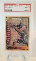 1996-97 Topps Youthquake #YQ9 Ray Allen Rookie PSA 9