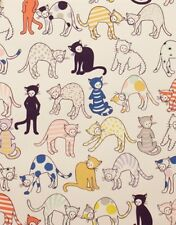 Alexander Henry Monkey's Bizness 8481 A Tea Kitty Kat Max Cotton Fabric BTY