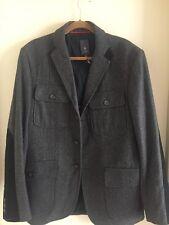 Bloomingdales Men's Wool Gray Coat Size L NWOT $400