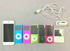 Lot of 8 - Mixed Model Apple iPods Touch, Nano & Shuffle - FOR PARTS