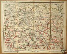 Deutsche Straßenprofilkarte für Radfahrer, Blatt 42, Leipzig - [Chemnitz], 1930