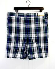 vtg 50s 60s Campus NOS NWT Rockabilly Blue Green Plaid Bermuda Shorts Golf 38
