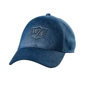2019 Wilson Staff One Touch Hat/Cap Denim Blue Adjustable