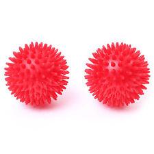 66fit™ Spiky 8cm Hard Massage Balls x 2pcs - Trigger Point Reflexology Stress