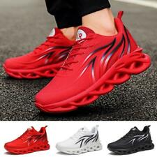 New listing Mens Running Shoes Casual Flat Sneakers Fashion Flame Printed Trainers Hollow So