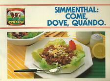 Simmenthal: come, dove, quando 100 modi portarla in tavola 1987 Carne in Scatola