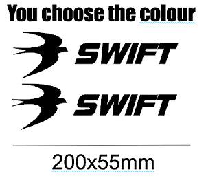SWIFT CARAVAN VINYL DECAL STICKERS X2