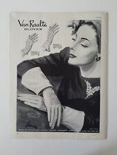 1942 womens Van raalte gloves sorority starlet Brigand styles vintage art ad