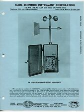 Vintage KAHLSICO Sales Brochure: MECHANICAL 60-DAY ANEMOGRAPH