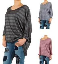 Langarm Damen-Shirts mit Rundhals-Ausschnitt