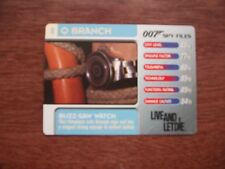 Buzz Saw Watch Live And Let Die #8 Q Branch - 007 James Bond Spy Files Card