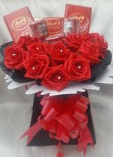 Luxury Lindt Lindor & Yankee Candles Chocolate Bouquet - Sweet Gift hamper