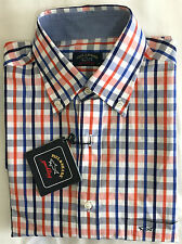 **GENUINE** PAUL & SHARK Yachting Men's Check Shirt Size.M /039  -- E13P0363 170