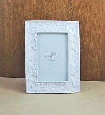 Gisela Graham White China Floral Shabby Chic Photo Picture Frames 4 X 6