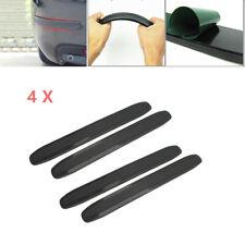 4PCS Car Black Bumper Corner Rubber Strip Anti-rub Scratch Protector Guard Kit
