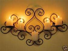 Wrought Iron Candle Sconce Holder Wall Decor B