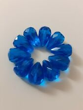 10 Pieces Of Big Faceted Teardrop  Beads Loose 12x18mm