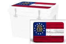 Usatuff Wrap Decal Lid Kit fits Yeti Haul Tundra Cooler Georgia Flag Wd