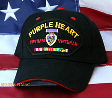 PURPLE HEART VIETNAM VET SERVICE RIBBONS CAP HAT US MARINES ARMY NAVY AIR FORCE