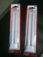 (2) PACK CRAFTSMAN KELVIN 4 PIN 19.2 V REPLACEMENT LIGHT BULB PL-13 13W-11212