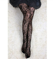 Sexy Women Lady Black Fishnet Pattern Jacquard Stockings Pantyhose Tights