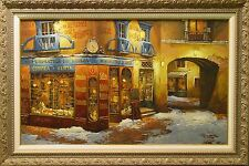 "Viktor Shvaiko ""Light on the Snow"" Hand Signed Serigraph on Canvas, Europe L@@K"
