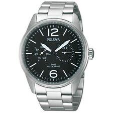 Reloj de pulsera PULSAR Hombre - PW5005X (Acero - Estanco 50 m - Fondo negro)
