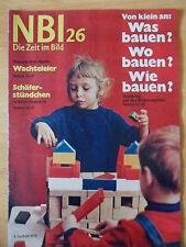 NBI 26/1972 * Wohnungsbau Cox Habbema Klein Nemerow 1.FC Magdeburg Angela Davis