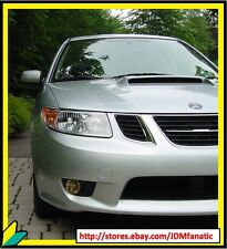 SAAB 92X Yellow Fog light Overlays 9-2x Rally JDM EDM Tint Vinyl Film Precut Kit