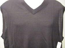 NEW XT XLT XL TALL TURNBURY 100% Merino Wool V-Neck Sweater VEST BLACK $70