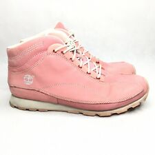 Timberland Pink Suede High Top Lace Up Leather Casual Lightweight Womens Size 10