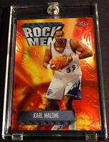 1998-99 KARL MALONE TOPPS CHROME ROCK MAN REFRACTOR JAZZ SHARP  (342)
