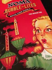 NOMA Vintage BUBBLE-LITES Retro Christmas Tree Lights
