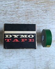 Vintage Dymo Label Tape! 1 Roll Of Gorgeous Glossy Green W Nice Box!