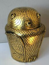 More details for beautiful vintage/antique chinese - japanese ? laquered gold gilt owl tea caddy