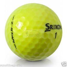 24 NEAR MINT Srixon Z Star Tour Mix YELLOW AAAA Used Golf Balls