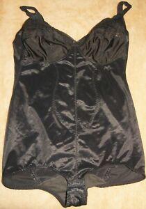 Vintage C & A Corselette Black 40B / 90B