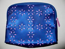 CLINIQUE Azul Lazer Cut Daisy Rosa Bolsa Estuche de Viaje Artículos De Aseo Cosméticos Bolsa BN