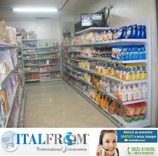 Scaffalatura negozi scaffali in acciaio arredo negozio L 535 P 40 Nuovi Fattura