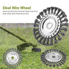 Lawn Mower Grass Trimmer Head Twist Knot Brush Steel Wire Wheel Brush Disc KIts