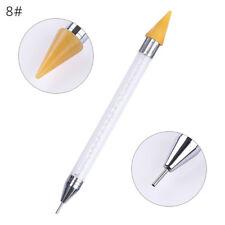 Dual-ended Dotting Pen Nail Art Rhinestone Picker Wax Pencil Crystal HandleTool