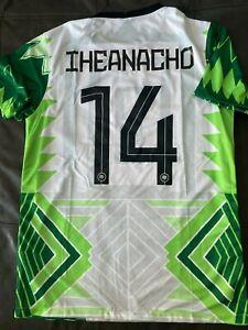 NIKE NIGERIA KELECHI IHEANACHO Dri Fit SOCCER JERSEY sz 2X NEW w TAGS  LEICESTER