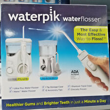Waterpik Ultra Plus Water Flosser (Nano +Deluxe Travel Kit) USED, HAS ALL PARTS