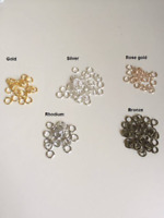 50 pcs 5mm Open Jump Rings Link Loops for DIY Jewelry Making Connector (230)