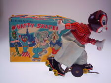 """Mechanical Happy skaters-Bear"" tps 1958, 16cm, viento up ok, nearly New!"