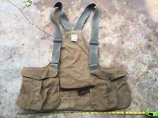 Vintage FILSON Tin Cloth Game Vest Game Bag XXL/SUP leather brass Hunting Vest