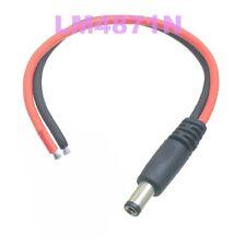 5.5x2.5mm male DC Power barrel plug 18AWG 15cm Silicone wire DIY Tinned end