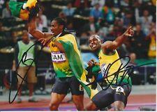 Usain Bolt  Jamaika 100m 1.OS 2012 Leichtathletik 13x18 Foto signiert 383222